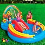 piscina gonfiabile per bambini con scivolo